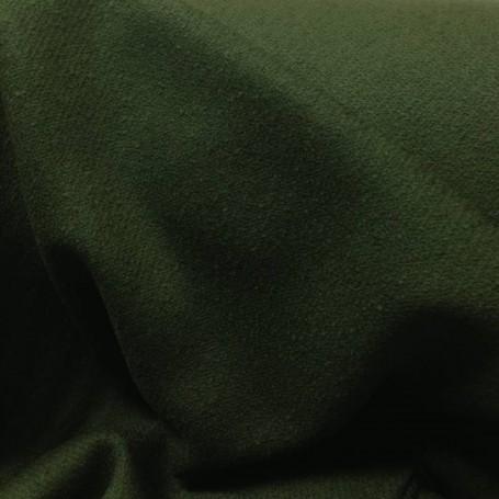 Tissu laine bouillie kaki