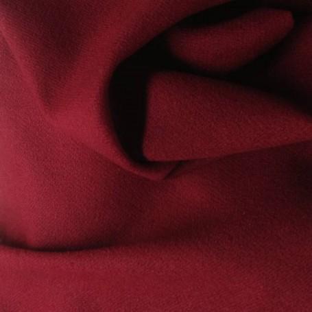 Tissu laine bouillie uni rouge