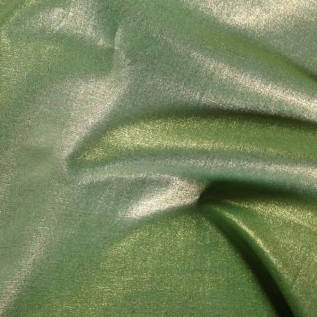 Tissus de lin brillant vert