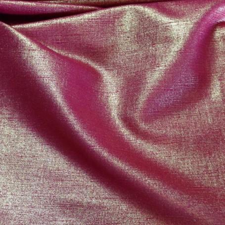 Rideaux lin brillant tissu au metre rouge