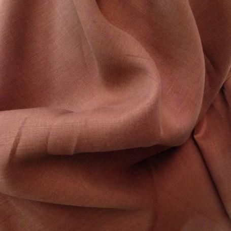 Tissu lin marron