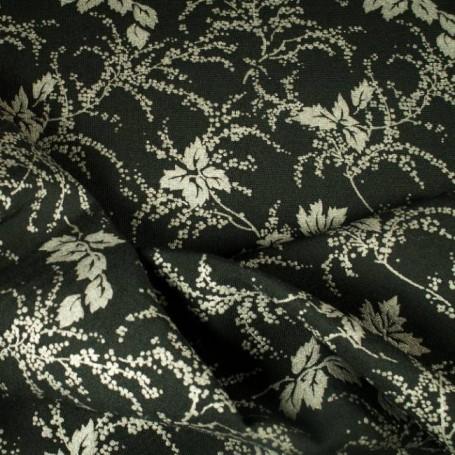 Toile polyester-laine imprimée, veste, robe