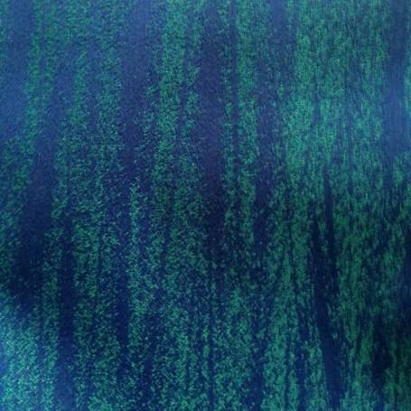 Tissu laine double bleu et turquoise