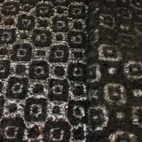 Tissu de laine mohair noir