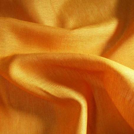 Tissu lin orange