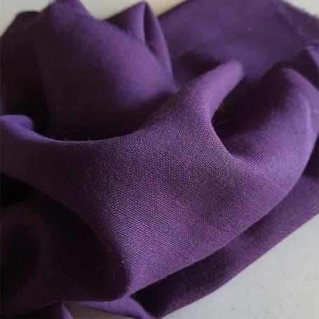 Tissu laine toile voilage violet