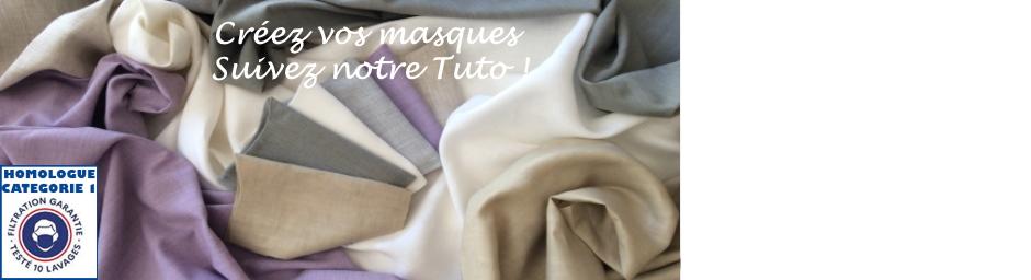Mercerie, masques en tissus, tuto couture